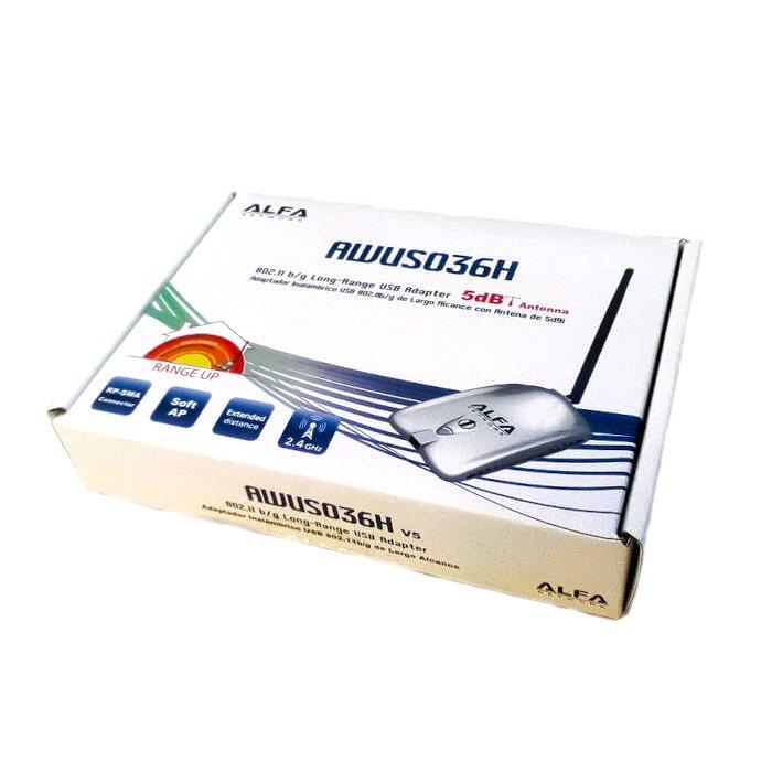 ALFA NETWORK AWUS036H V5 ALFA AWUS036H 5Dbi USB WIFI INTERIOR