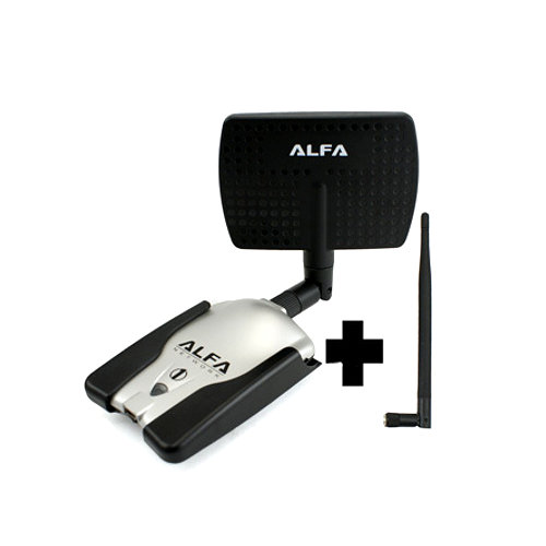 Kits WIFI Alfa network AWUS036H PANEL 7DBI interior