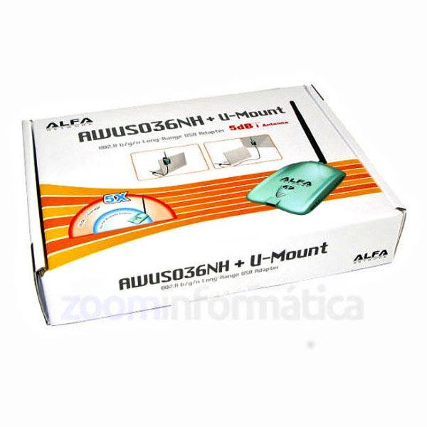 Comprar online Adaptadores WIFI USB ALFA NETWORK AWUS036NH al mejor precio