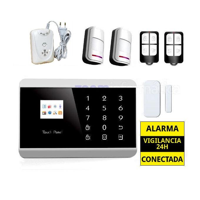 alarmas-zoom AZ013 5 Kit De Alarma Inalambrica GSM sin cuotas AZ013 con detector de gas