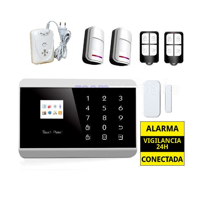 Alarma Hogar GSM Castellano sin cuotas Detector gas AZ013 5
