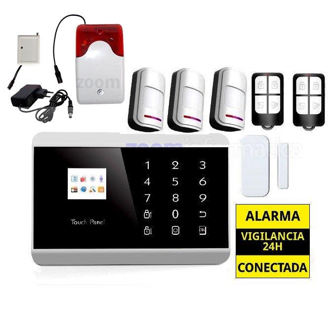 AZ013 6 AZ013 6 alarmas-zoom Kit De Alarma Inalambrica GSM sin cuotas AZ013 kit sirena inalambrica