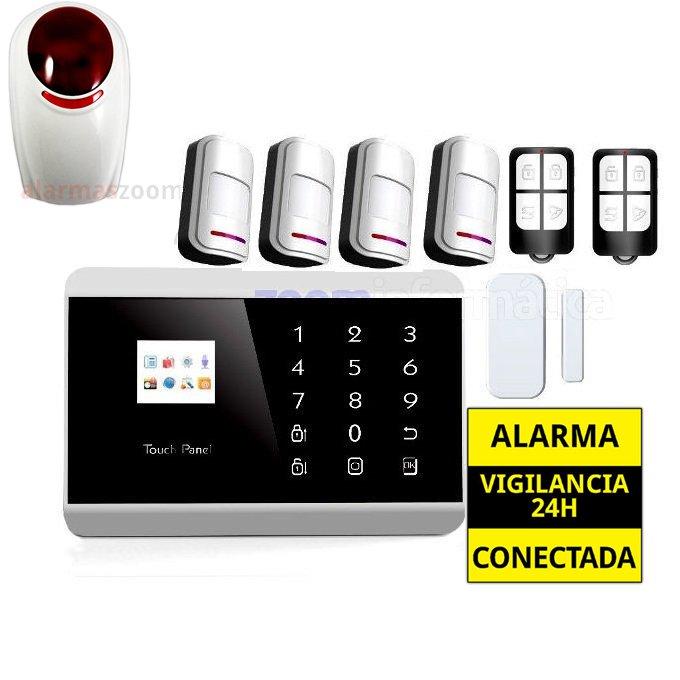 Alarma Hogar GSM Castellano sin cuotas 4 Detectores movimiento AZ013 7