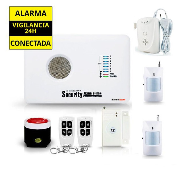 Kit alarma sin cuotas Detector escape gas AZ018 7