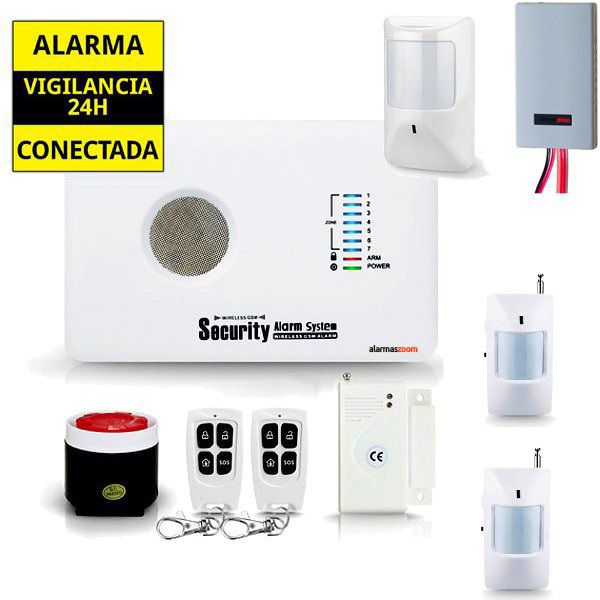 alarmas-zoom AZ018 G10C 15 ALARMA CASA HOGAR AZ018 CON DETECTOR DE INHIBIDORES Y SENSOR CON CABLE