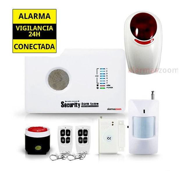 alarmas-zoom AZ018 G10C 8 ALARMA CASA HOGAR AZ018 CON SIRENA INALAMBRICA OFS03