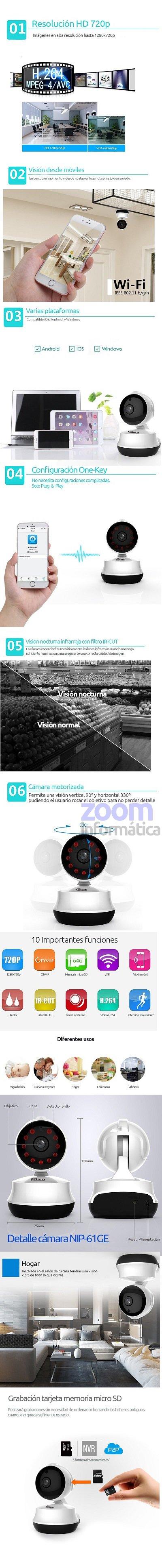 Neo coolcam CAMARA VIGILANCIA INTERIOR 32GB CON ROUTER 3G
