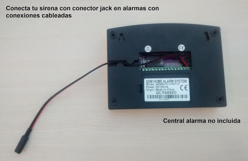 Alarmas-zoom Cable jack alarma
