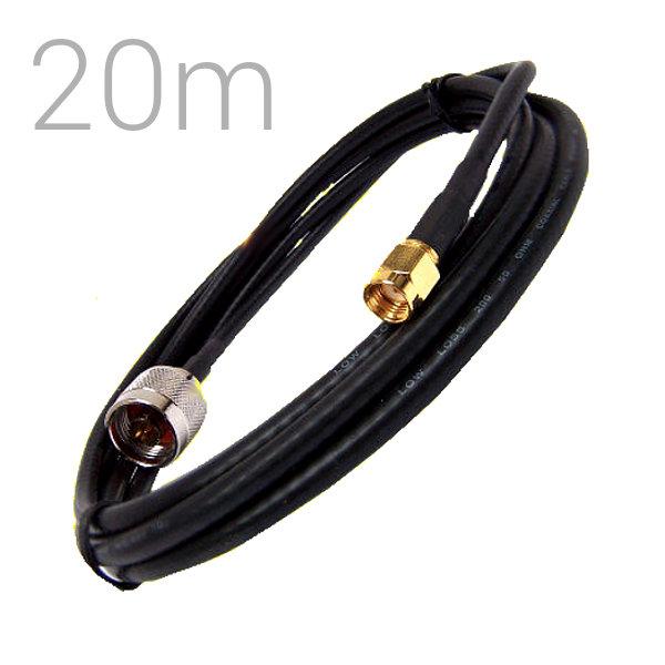 Cable Pigtail N Macho RP SMA Macho 20 metros