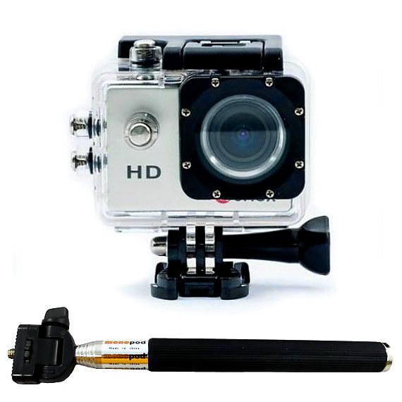 Camaras Zoom A8 SELFIE A8 SELFIE CAMARAS ZOOM Camara deportiva 720p video dash DV acuatica tipo GOPRO y SJCAM A8 sumergible con palo selfie