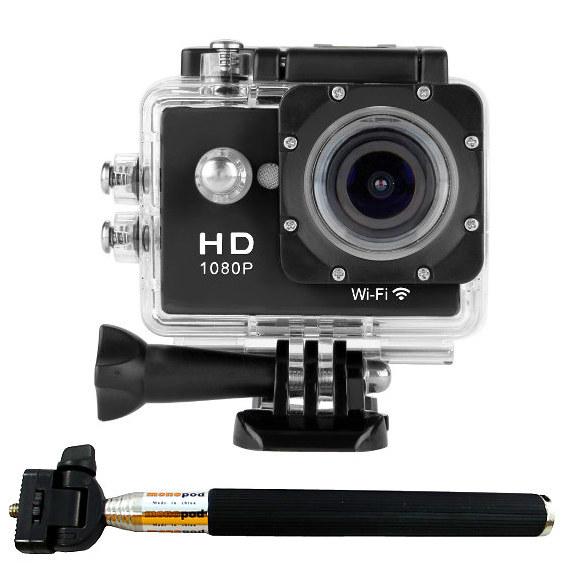 CAMARAS ZOOM W8 CON SELFIE Full HD 1080p WIFI Video Camara DV Tipo con palo selfie Deportiva sumergible similar SJ4000 SJCAM