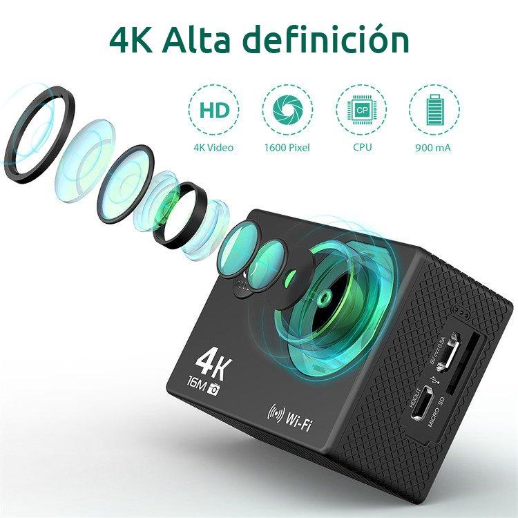 Camaras zoom CAMARA DEPORTIVA 4K SELFIE
