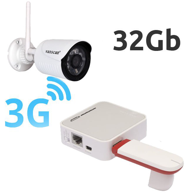 OTROS CAMARA DE VIGILANCIA CON MODEM 3G FHD KIT CAMARA IP EXTERIOR FULL-HD CON MEMORIA INTERNA  Y ROUTER 3G USB