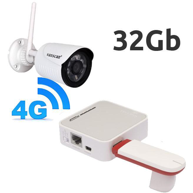 OTROS CAMARA DE VIGILANCIA CON MODEM 4G FHD KIT CAMARA IP EXTERIOR FULL-HD CON MEMORIA INTERNA Y ROUTER 4G USB