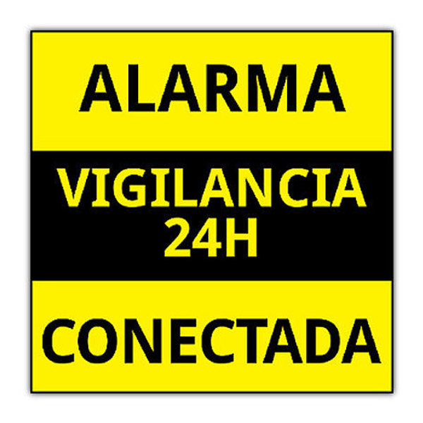 alarmas-zoom CARTEL ALARMA PEGATINA DE CARTEL ALARMA CONECTADA VARIOS MODELOS DISUASORIOS CARTELES VIGILANC