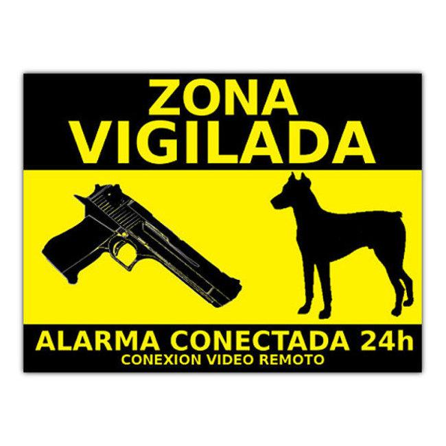 alarmas-zoom CARTEL ALARMA 2 PEGATINA DE CARTEL ALARMA CONECTADA VIGILANCIA DISUASORIOS CARTELES
