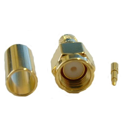 Conector RP SMA Macho Pigtail LMR200 H155 Crimpable