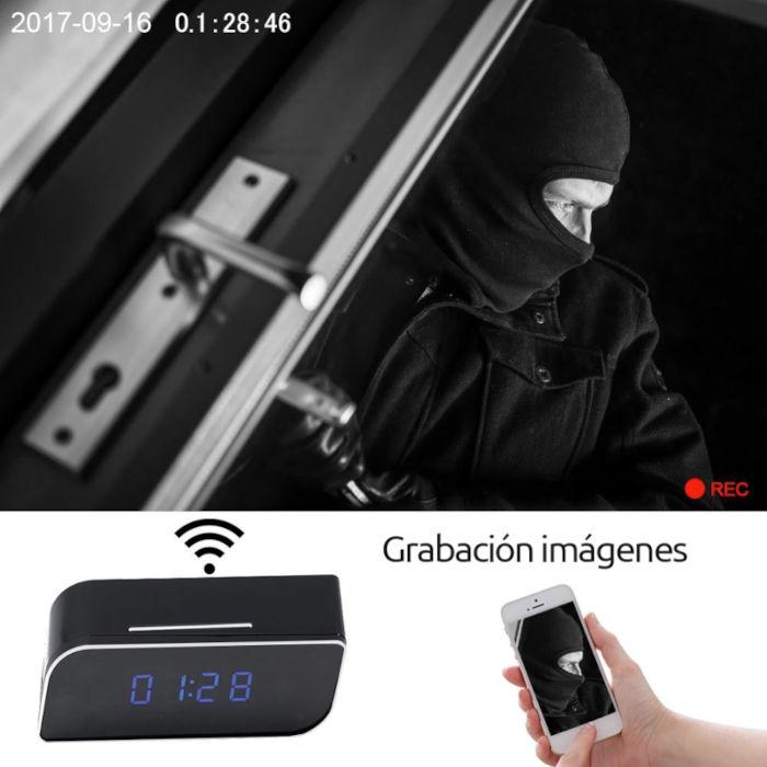 Otros Despertador con camara espia