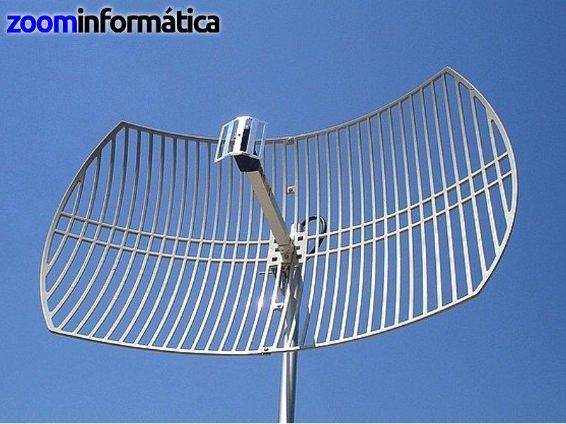 Antena 24dbi Parabolica De Rejilla Grid Wifi Exterior Ebay