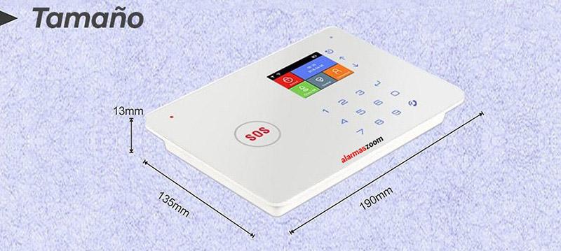 Tamano-Alarma-para-casa-WiFi-GSM
