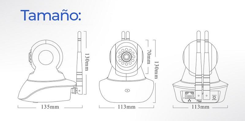 Tamano-Camara-IP-WiFi