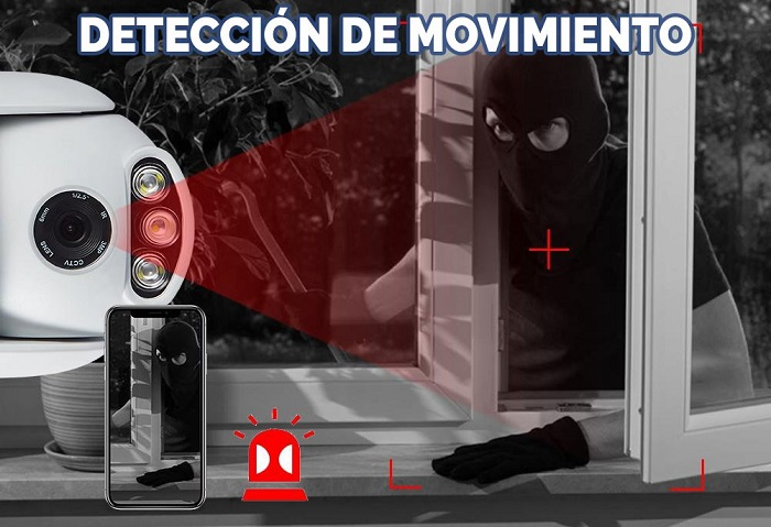 detección-movimiento-camara-de-seguridad-exterior