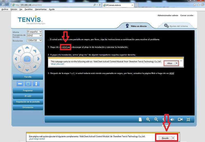 Instalar Plugins camara IP