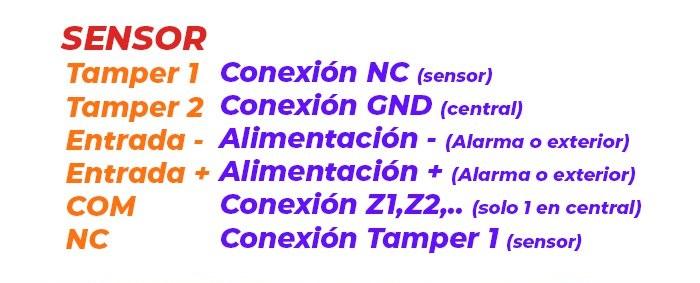Conexiones-detector-pir-cableado-tamper