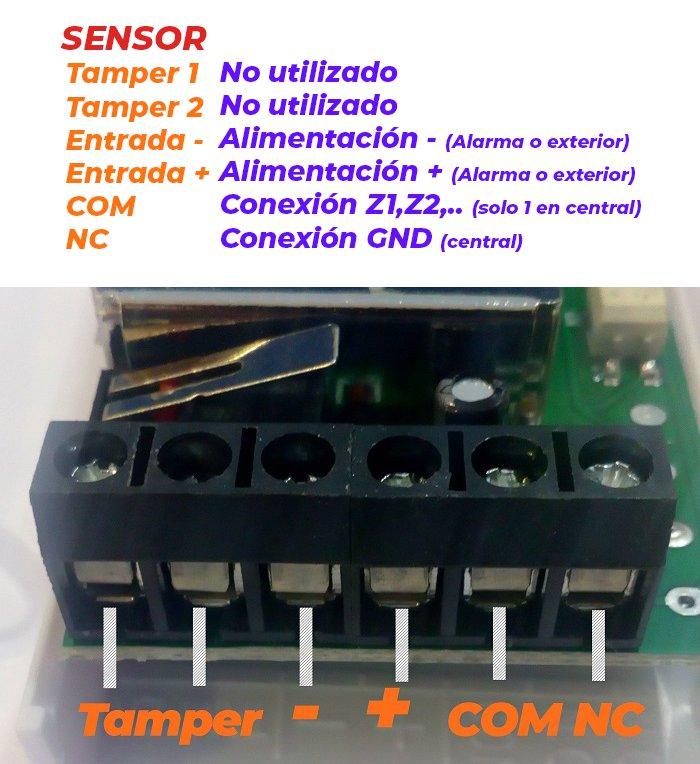 Conexiones-detector-pir-cableado