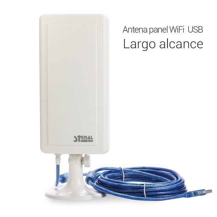 Adaptador WiFi USB Signal King SK-12TN para Exteriores Antena Panel Exterior