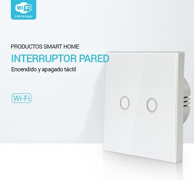 Interruptor pared WiFi domótica