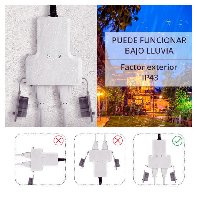 Regleta-exterior-resistente-agua-conexion-WiFi-Tuya-Smart