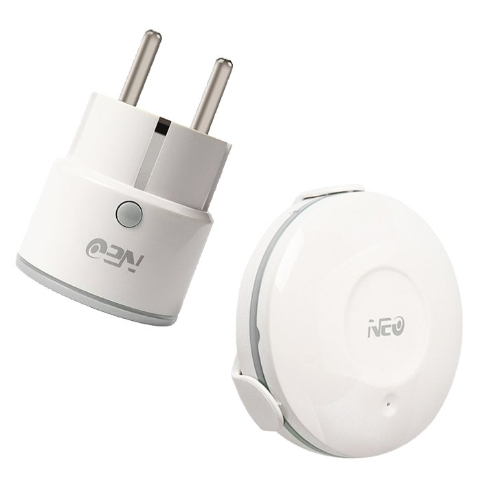 NEO COOLCAM WR02WE WS01W Enchufe WiFi compatible APP Tuya Smart con detector inundacion