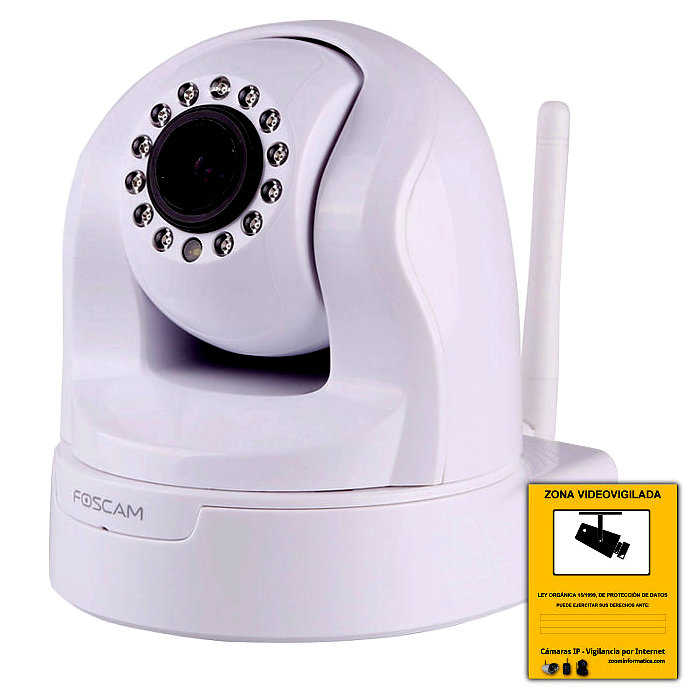 FOSCAM FI9826W W R Camara IP Foscam FI9826w WIFI IR 1.3MPX reacondicionada Monitorizada ZOOM Optico 3x H.264 BLANCO