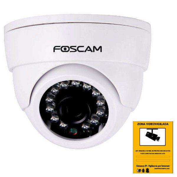 Camara IP WiFi Foscam FI9851P Domo con calidad HD Reacondicionada