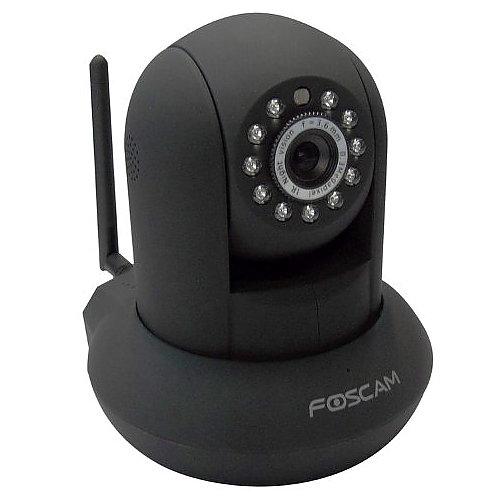 Camara IP Foscam FI8910W Color negro Motorizada y vision nocturna Reacondicionada