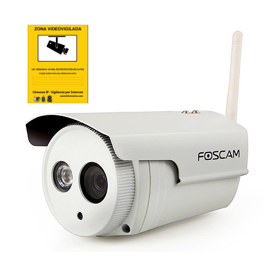 FOSCAM FI9803P Camara IP Foscam FI9803P V2 exterior 1mpx wifi h.264 P2PDDNS configuracion facil