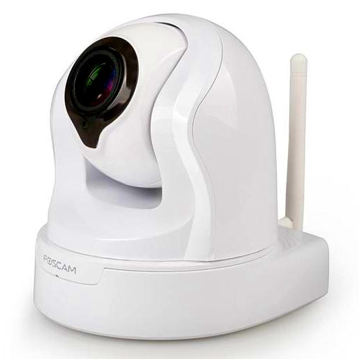 Camara IP Foscam FI9826P WIFI IR 1.3MPX Monitorizada ZOOM Optico H264 BLANCO P2P
