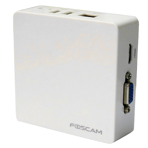 Foscam FN3004H blanco Mini NVR 4 canales camara ip Network Video grabador ONVIF camaras