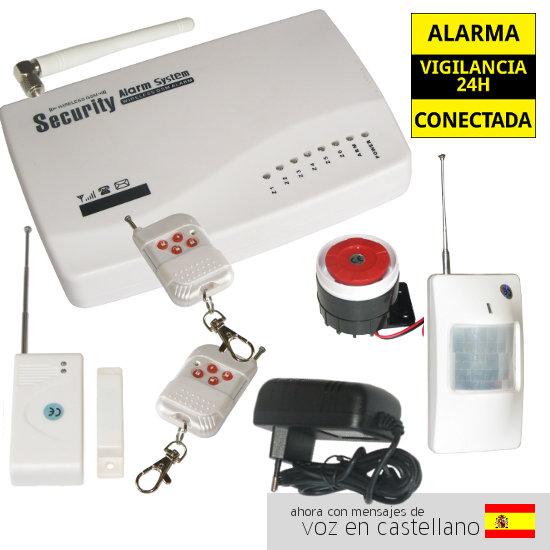 AZ010 GA0604 AZ010 GA0604 alarmas-zoom ALARMA CASA HOGAR GARAJE VOCES CASTELLANO ESPANOL OFICINA TIENDA SIN PREINSTALACION DE CABLES BARATA GSM