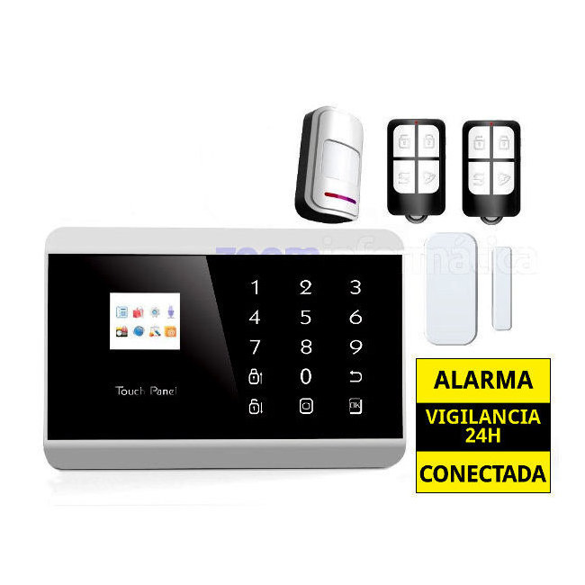 AZ013  PG992TQ AZ013  PG992TQ alarmas-zoom Kit De Alarma Inalambrica GSM SMS Seguridad Casa/Oficina/Tienda Control Remoto Castellano
