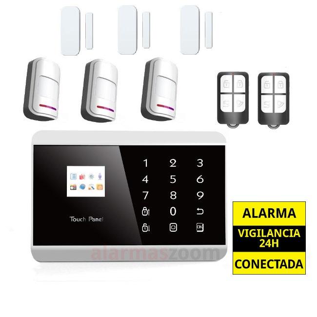 alarmas-zoom AZ013  PG992TQ 1 PACK De Alarma Inalambrica GSM SMS Seguridad Casa/Oficina/Tienda Control Remoto