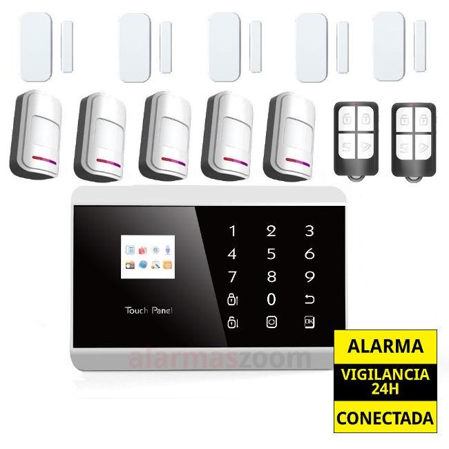 alarmas-zoom AZ013  PG992TQ 2 Sistema de alarma inalambrico y por cable GSM  PSTN SMS Home Security para casa