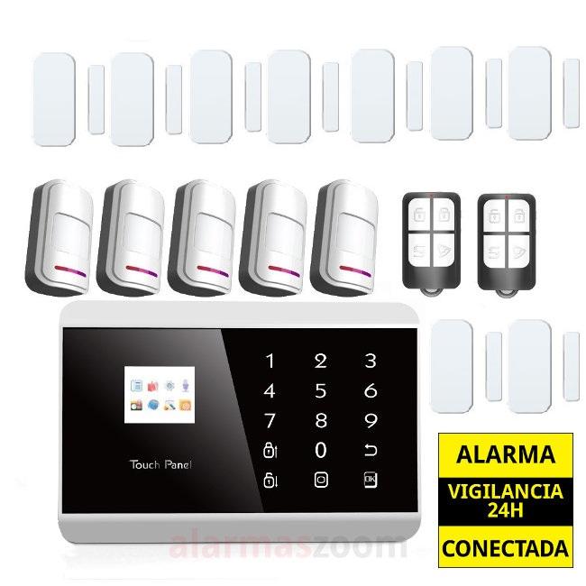 Alarma Hogar GSM Sin cuotas 7 Detectores apertura puertas sin cable AZ013 8