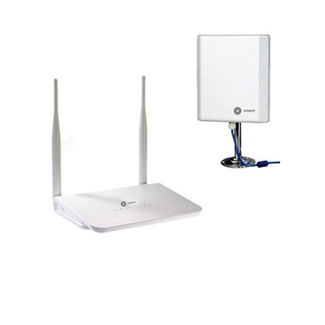 Wonect Router inalambico R658a con antena WiFi USB N4000a