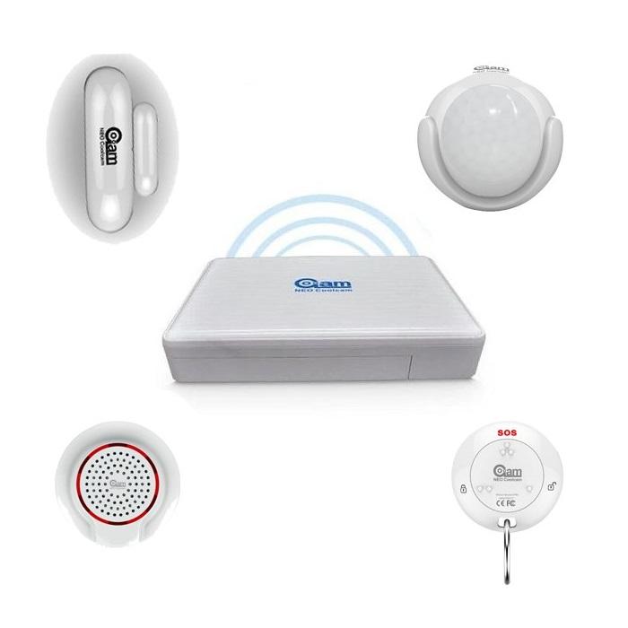 NeoCoolCam Alarma Hogar WiFi Sin Cuotas conexion Sirena inalambrica Mando a distancia