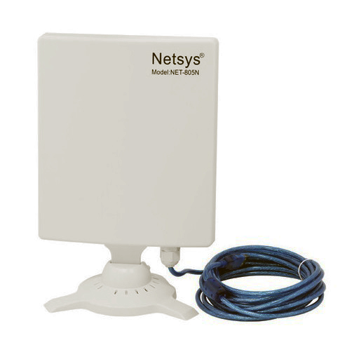 Netsys 805N Adaptador WiFi PC Antena cable USB 5 metros integrado reacondicionada