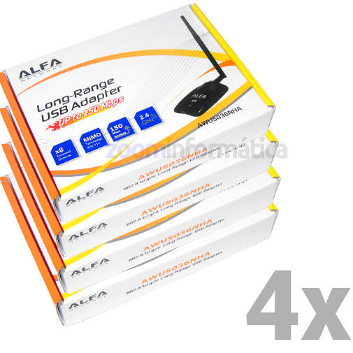 PACK distribuidores Alfa network AWUS036NHA PACK