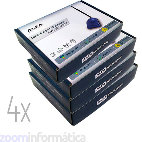 PACK distribuidores Alfa network 4x AWUS036NHV