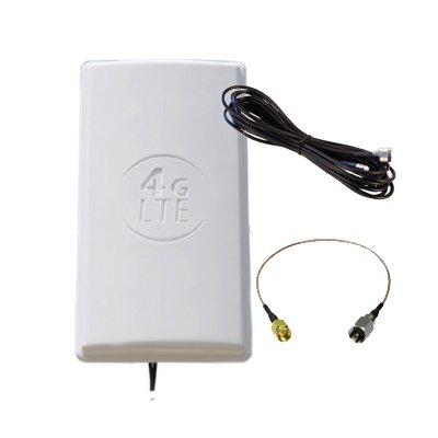 WONECT PANEL 20DBI 3G 5M SMA Antena Panel 3G exterior Mimo  2x20DBI 3G,  4G, WIFI,.  5 metros SMA